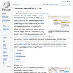 Bookmark (World Wide Web)