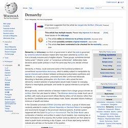 Demarchy