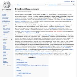 Private military company