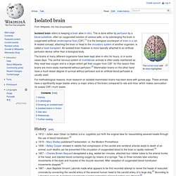 Isolated brain