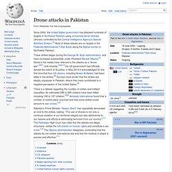 Drone attacks in Pakistan