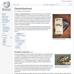 Chorded keyboard