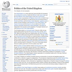 Politics of the United Kingdom