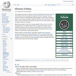 Glossary of Islam