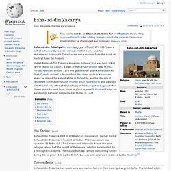 Baha-ud-din Zakariya