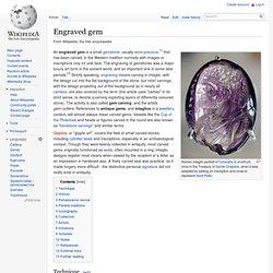 Engraved gem