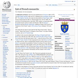 List of French monarchs