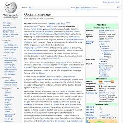 Occitan language