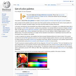 list of color pallates