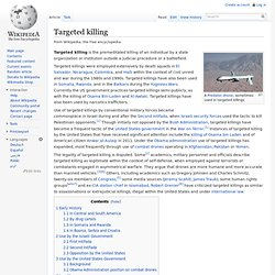 Targeted killing, wikipedia