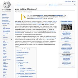 Just In Time (business) - Wikipedia, the free e...