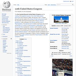 111th United States Congress