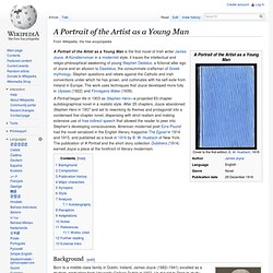 A Portrait of the Artist as a Young Man - Wikipedia, the free en