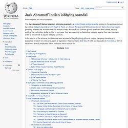 Jack Abramoff Indian lobbying scandal