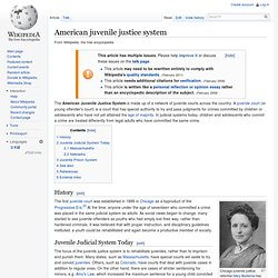 American Juvenile Justice System - Wiki