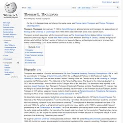 Thomas L. Thompson
