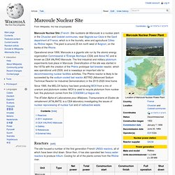 Marcoule - Wiki