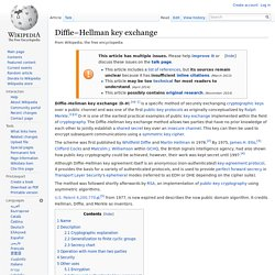 Diffie–Hellman key exchange