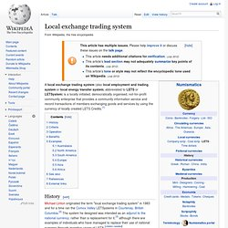 Local exchange trading system history