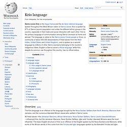 Krio language