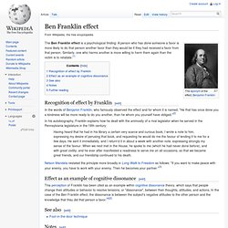Ben Franklin effect