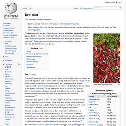 WIKIPEDIA – Beetroot.