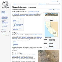 Mountain Pass rare earth mine