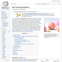 Ray tracing (graphics)