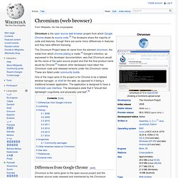 Chromium (web browser)