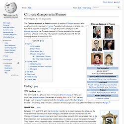 Chinese diaspora in France