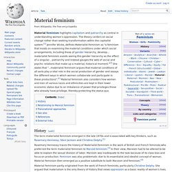 Material feminism