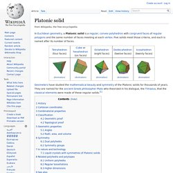 Platonic solid