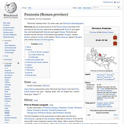 Pannonia (Roman province)