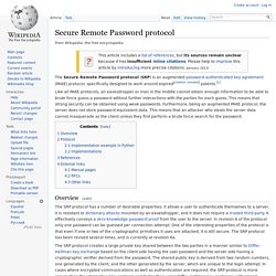 Secure Remote Password protocol