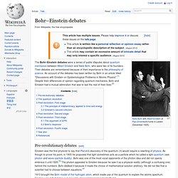 Bohr–Einstein debates