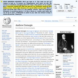 Andrew Carnegie - Wikipedia, the free encyclopedia
