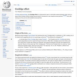 Coolidge effect