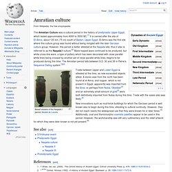 Amratian culture