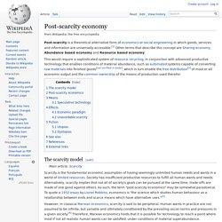 Post-scarcity economy