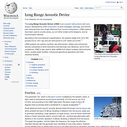 Long Range Acoustic Device