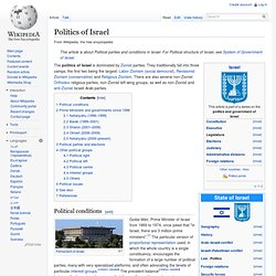 Politics of Israel