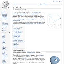 Homotopy