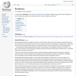 Foodways - Wikipedia, the free encyclopedia - Flock