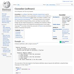 Cucumber (software)