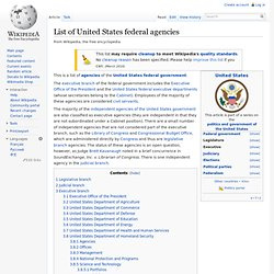 List of United States federal agencies - Wikipedia, the free enc