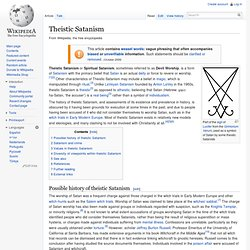 Theistic Satanism