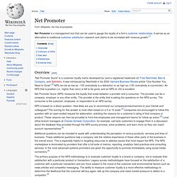 Net Promoter