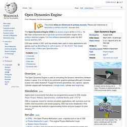 Open Dynamics Engine