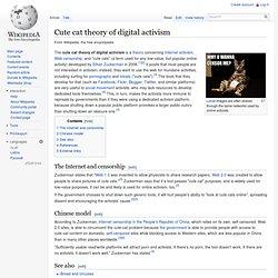 Cute cat theory of digital activism Ethan Zuckerman
