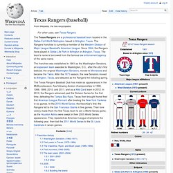Texas Rangers (baseball)